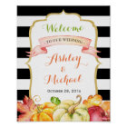 Fall Wedding Sign | Autumn Pumpkins Leaves Theme