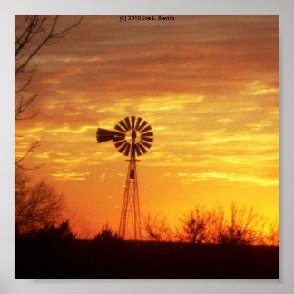 Fall Windmill Poster