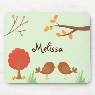 Fall Woodland Animal Delight Mouse Mat