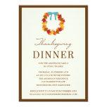 FALL WREATH IN BLUE | THANKSGIVING DINNER INVITE