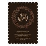 Fall Wreath | Thanksgiving Dinner Invitation