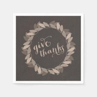 Fall Wreath   Thanksgiving Paper Napkins
