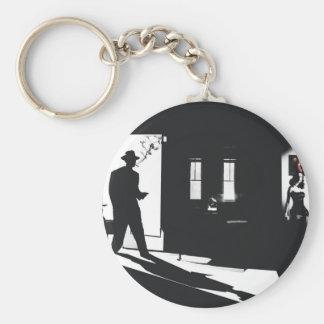 Fallen Angel Basic Round Button Key Ring
