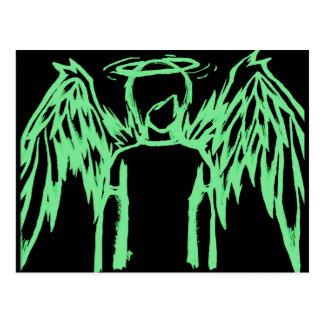 Fallen Angel Green Postcards