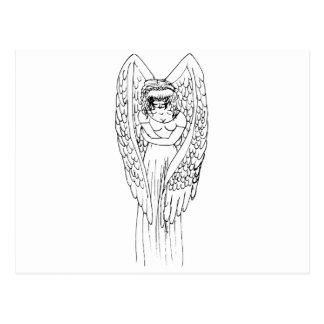 fallen angel post card