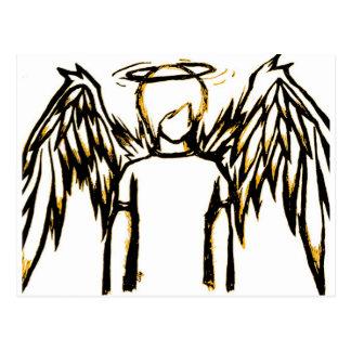 Fallen Angel Yellow Post Card