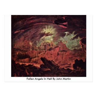 Fallen Angels In Hell By John Martin Post Card