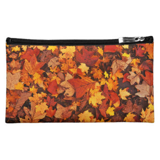 Fallen Autumn Leaves Makeup Bag