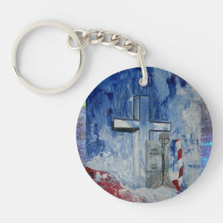 Fallen But Never Forgotten Single-Sided Round Acrylic Key Ring