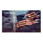 Fallen But Not Forgotten Smoke and Torn Flag Business Cards