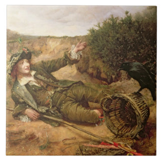 Fallen by the Wayside, 1886 (oil on canvas) Large Square Tile