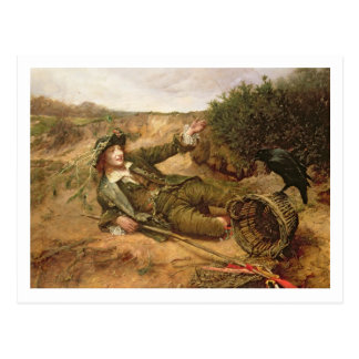 Fallen by the Wayside, 1886 (oil on canvas) Postcard