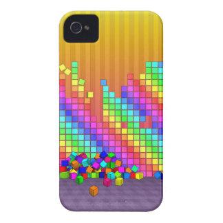 Fallen cubes 3D graphics design iPhone 4 Case-Mate Case