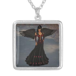 Fallen Dark Angel Necklace