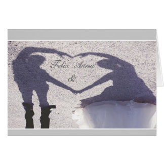 Fallen in love, engaged, marries note card