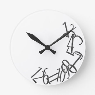 Fallen Numbers Round Clock