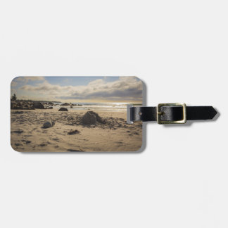 Fallen Sand Castle On The Beach Luggage Tag