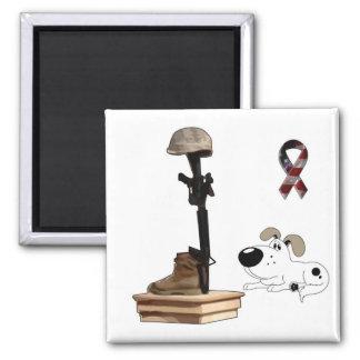 Fallen Soldier - Cutie Mourns Square Magnet
