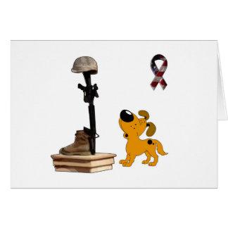 Fallen Soldier - Pumpkin Mourns Greeting Card