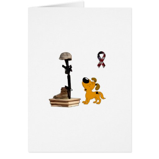 Fallen Soldier - Pumpkin Mourns Greeting Cards