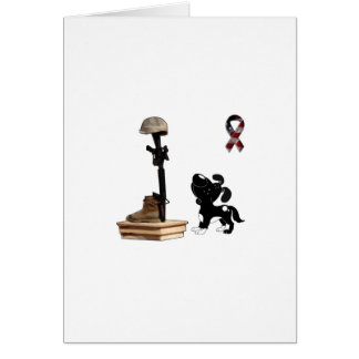 Fallen Soldier - Shadow Mourns Greeting Card