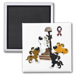 Fallen Soldier - The Price of Freedom Square Magnet