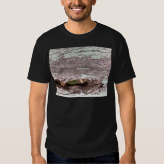 Fallen sun bleached tree with hollow point t shirt