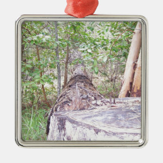 Fallen Tree with Stump in Forest Christmas Ornament