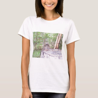 Fallen Tree with Stump in Forest T-Shirt