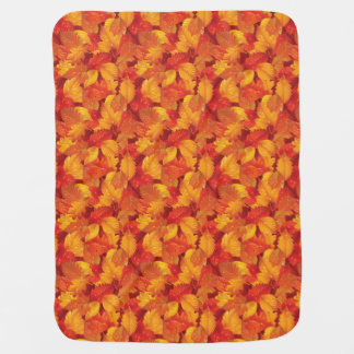 Fallen wet leaves. Autumnal background Baby Blanket
