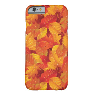 Fallen wet leaves. Autumnal background Barely There iPhone 6 Case