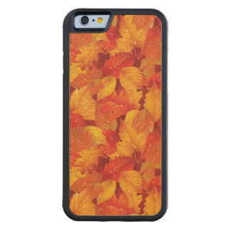 Fallen wet leaves. Autumnal background Carved Maple iPhone 6 Bumper Case
