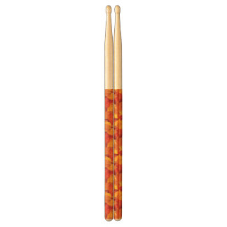 Fallen wet leaves. Autumnal background Drumsticks