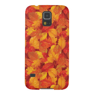 Fallen wet leaves. Autumnal background Galaxy S5 Cover