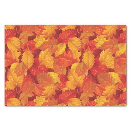 Fallen wet leaves. Autumnal background Tissue Paper