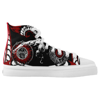 Fallen winged angel lace tennis shoes printed shoes