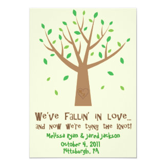 Fallin' In Love Save the Date 13 Cm X 18 Cm Invitation Card