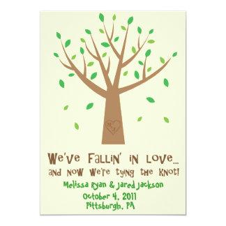 "Fallin' In Love Save the Date 5"" X 7"" Invitation Card"
