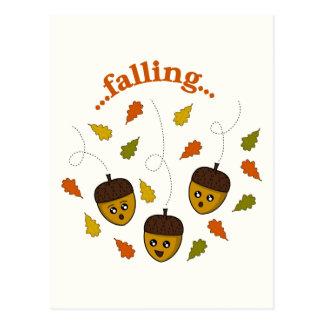 Falling Acorns Post Card