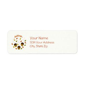 Falling Acorns Return Address Label