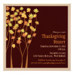 Falling Autumn Leaves Thanksgiving Invitation
