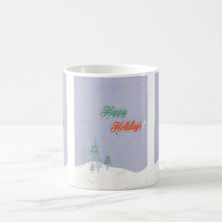 Falling candy canes coffee mug