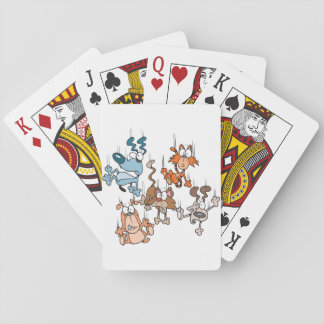 Falling Cats And Dogs Playing Cards