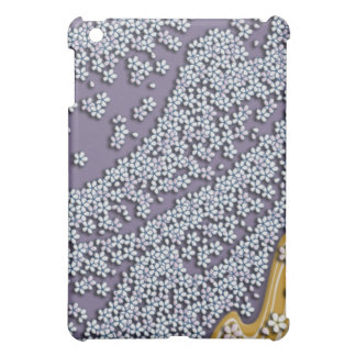 Falling cherry flowers wind iPad mini cover