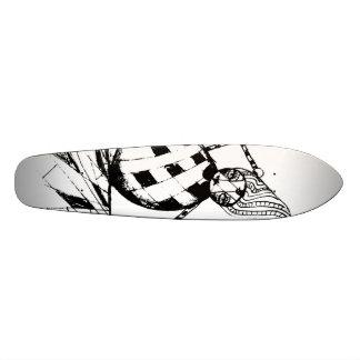 falling clown custom skate board