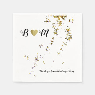 falling confetti wedding love celebration party paper napkins
