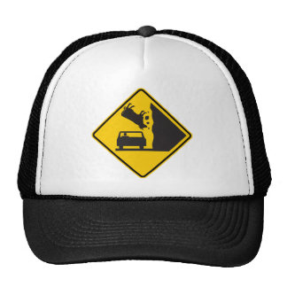 Falling Cow Zone Highway Sign Cap