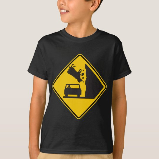 Falling Cow Zone Highway Sign T-Shirt