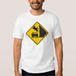 Falling Cow Zone Highway Sign T Shirt
