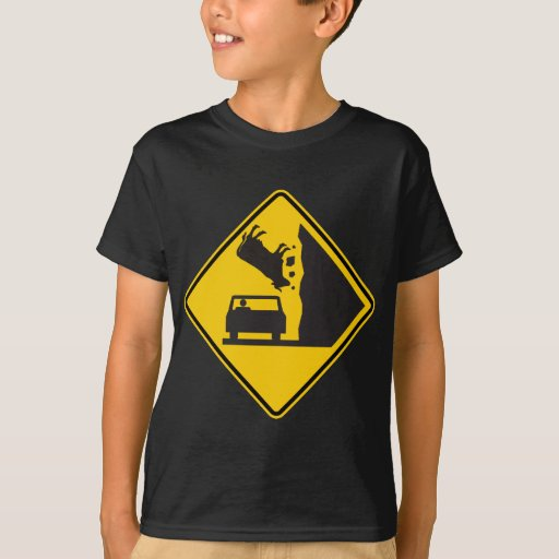 Falling Cow Zone Highway Sign Tshirt